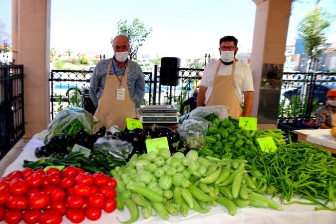 Vatandaşlar tarladan taze sebze ve meyve toplayıp satın alabilecek