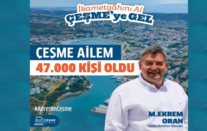 Çeşme'nin nüfusu 46.093 oldu!